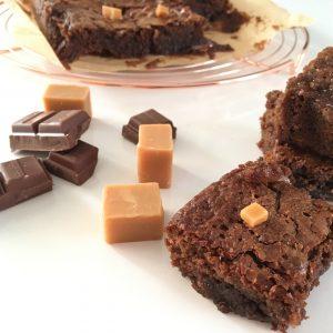 Brownies met salty fudge