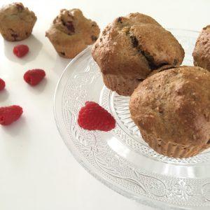 Healthy kwarkbollen met frambozen