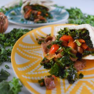 Pita kipshoarma met boerenkool – het perfecte, gezonde anti kater recept