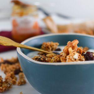 (Niet zo gezonde) granola met karamel