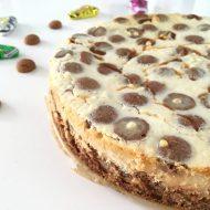 Cheesecake met kruidnoten en gezouten karamel