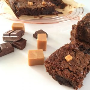 Brownies met salty fudge
