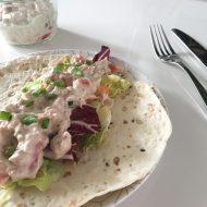 Wraps met zomerse tonijnsalade