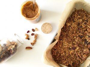 karamel-zeezout granola