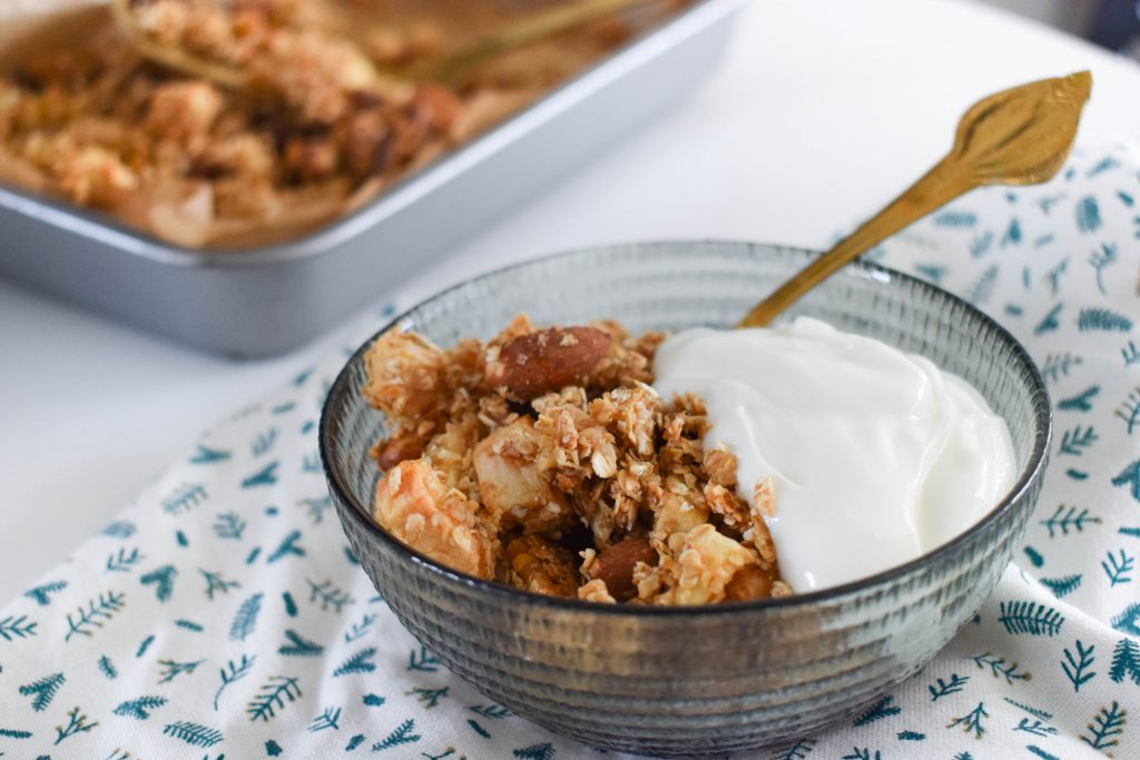 Warme appelcrumble