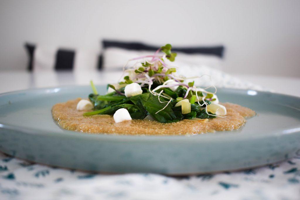 Spinaziesalade met amarant