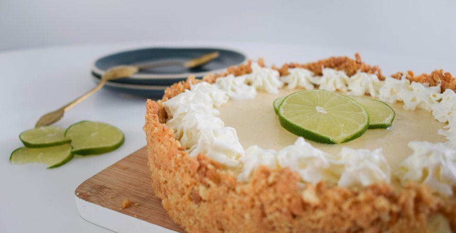 Limoen cheesecake met kokoskoekjes