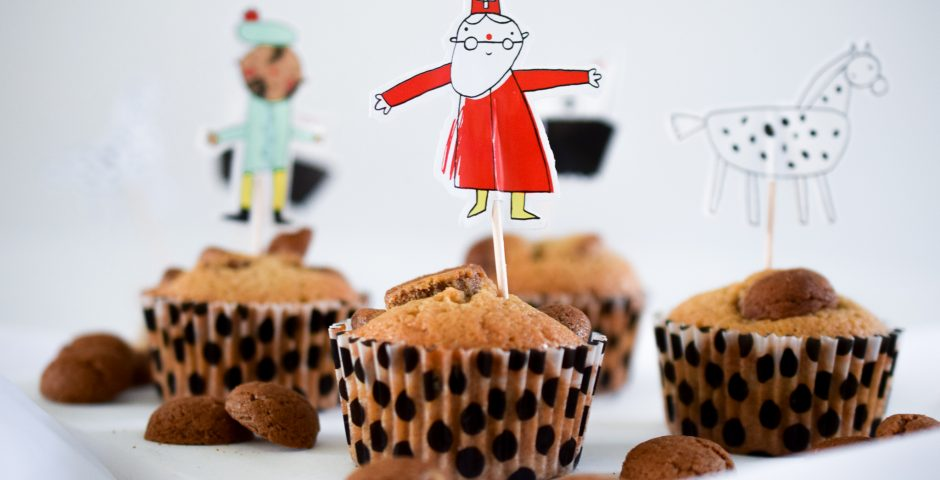 Sinterklaas recepten: kruidnoten cupcakes
