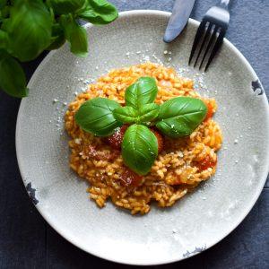 vegetarische tomaten risotto