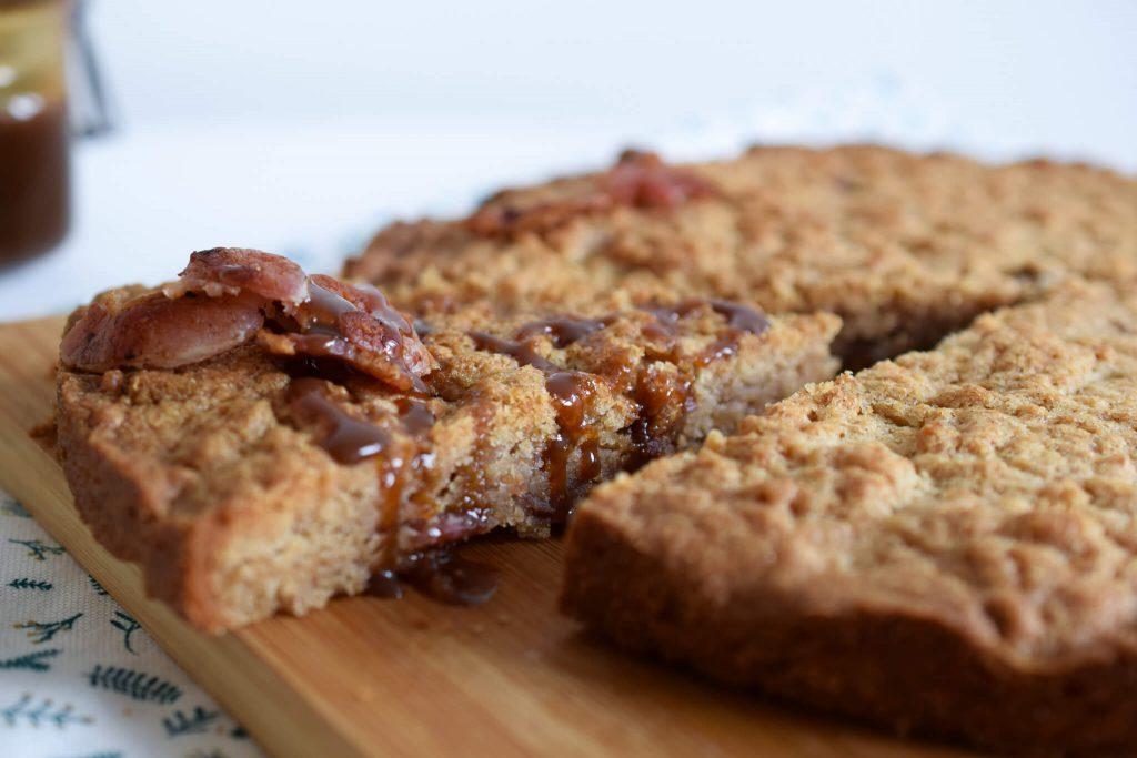 boterkoek met bacon en gezouten karamel