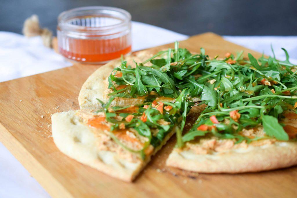 vegetarische groente-pizza