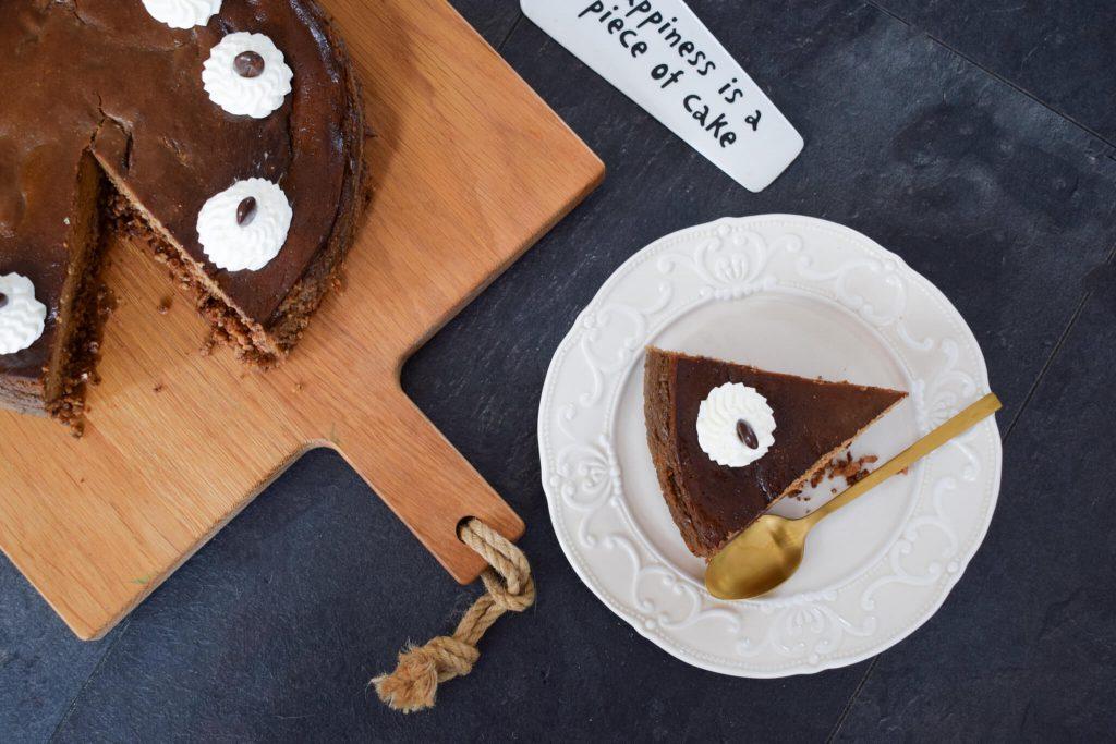 cappuccino cheesecake met koffiesmaak